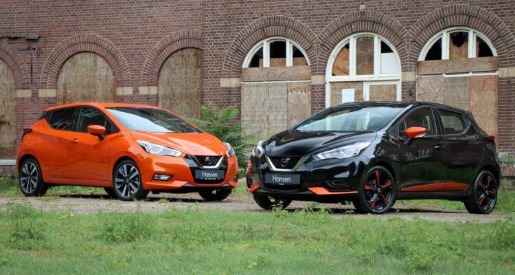 Nissan Micra oranje zwart